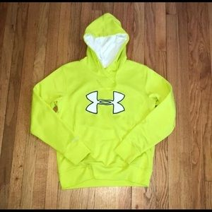 Women's Under Armour Sweatshirt, Neon Green Medium